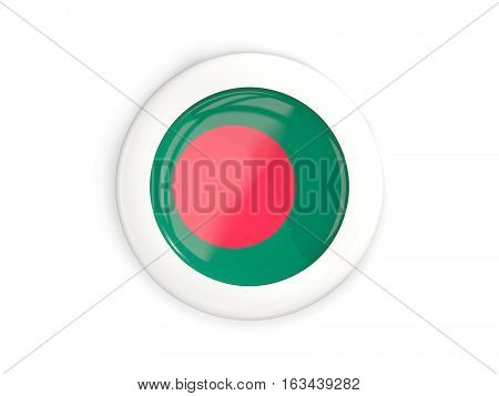 Flag Of Bangladesh, Glossy Round Button