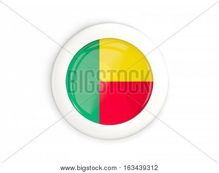 Flag Of Benin, Glossy Round Button