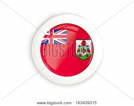Flag Of Bermuda, Glossy Round Button