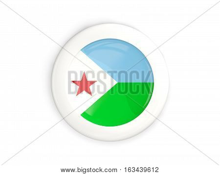Flag Of Djibouti, Glossy Round Button