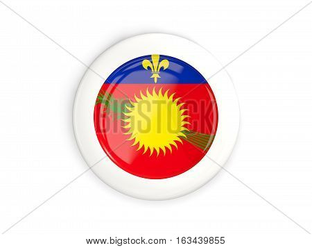 Flag Of Guadeloupe, Glossy Round Button