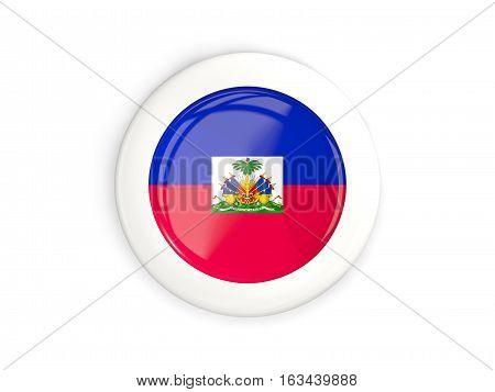 Flag Of Haiti, Glossy Round Button