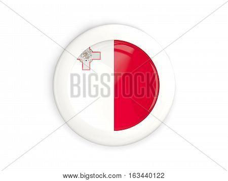 Flag Of Malta, Glossy Round Button
