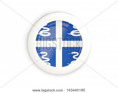 Flag Of Martinique, Glossy Round Button