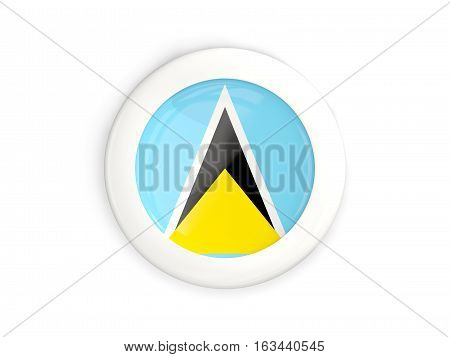 Flag Of Saint Lucia, Glossy Round Button