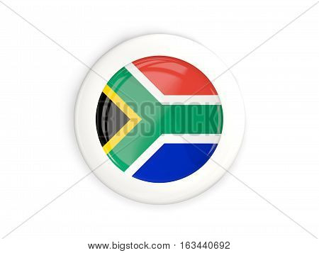 Flag Of South Africa, Glossy Round Button