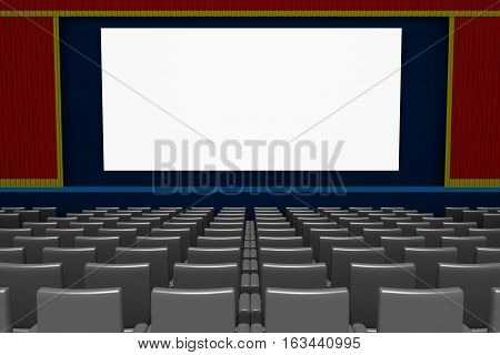 Empty Movie Theater Blank Screen