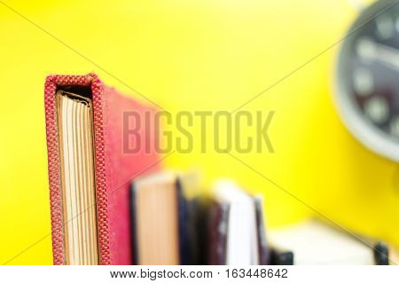image of Heap of books close up