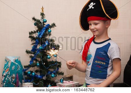 Portrait Of A Young Boy, Pirate Hat,