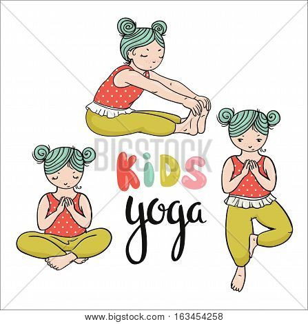Kid Yoga Logo Vector Photo Free Trial Bigstock