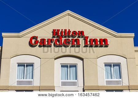 Lafayette - Circa December 2016: Hilton Garden Inn Hotel. Hilton Hotels And Resorts Operate Over 570