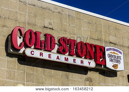 Lafayette - Circa December 2016: Cold Stone Creamery Ice Cream Parlor Location. Cold Stone Is Owned