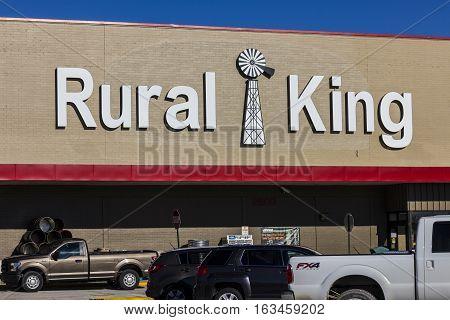 Lafayette - Circa December 2016: Rural King Retail Strip Mall Location. Rural King Sells Farm Suppli