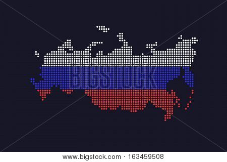 Beautiful Simple Vector Dotted Russian Federation Map