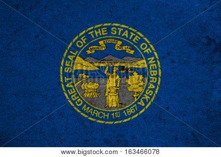Graphic American State Grunge Flag Of Nebraska
