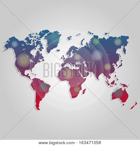 Vector illustration world map connection. Worldmap template for website, design, cover, annual reports, infographics