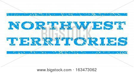 Northwest Territories watermark stamp. Text tag between horizontal parallel lines with grunge design style. Rubber seal stamp with dirty texture. Vector blue color ink imprint on a white background.