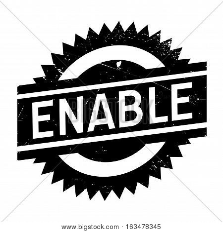 Enable stamp. Grunge design with dust scratches. Effects can be easily removed for a clean, crisp look. Color is easily changed.