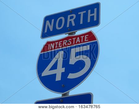 The road from Houston to Dallas is Interstate 45 North. Interstate 45 is considered to be the main drag between the two cities and the new high speed rail would most likely parallel the roadway.