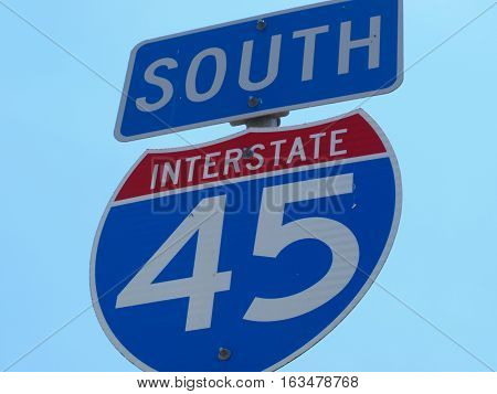 Interstate Highway 45 South is the main drag from Dallas to Houston and the Gulf Coast.