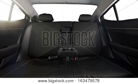 Wide cloth back modern car seat with isolated windows