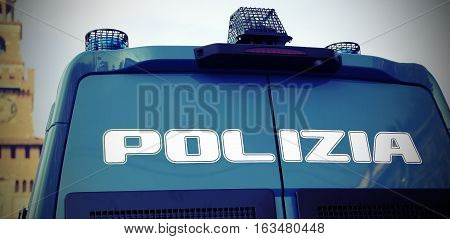 Armored Police Van To Patrol