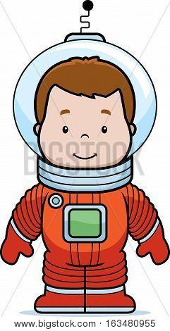 Cartoon Astronaut Boy