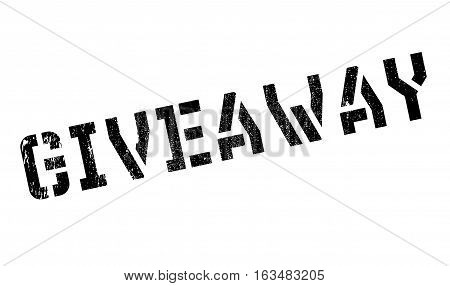 Giveaway stamp. Grunge design with dust scratches. Effects can be easily removed for a clean, crisp look. Color is easily changed.