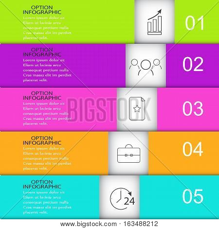Template infographics business Rectangles with icons Vector background