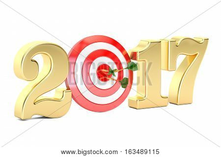 2017 year target concept 3D rendering isolated on white background