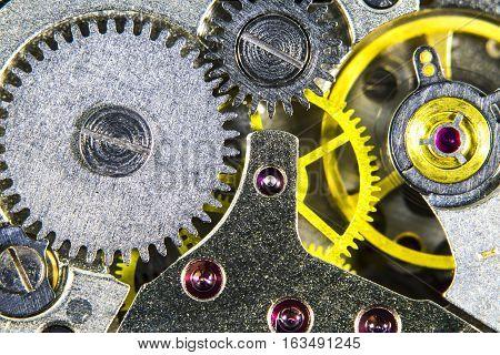 The clockwork old mechanical high resolution, macro