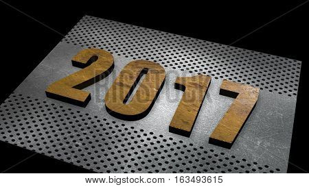new year clasic text design 2017 good by 2016