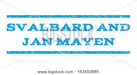 Svalbard and Jan Mayen watermark stamp. Text caption between horizontal parallel lines with grunge design style. Rubber seal stamp with scratched texture.