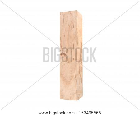 3D Decorative Wooden Alphabet, Lowercase Letter L