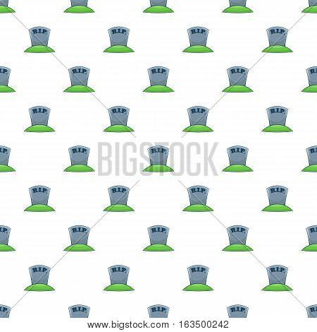 Tombstone pattern. Cartoon illustration of tombstone vector pattern for web