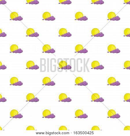 Full moon and cloud pattern. Cartoon illustration of full moon and cloud vector pattern for web