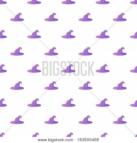 Witch hat pattern. Cartoon illustration of witch hat vector pattern for web