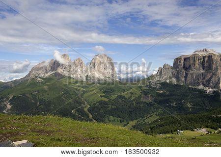 Sasso e Lungo e Sasso Piatto from Belvedere - Trentino - Italy
