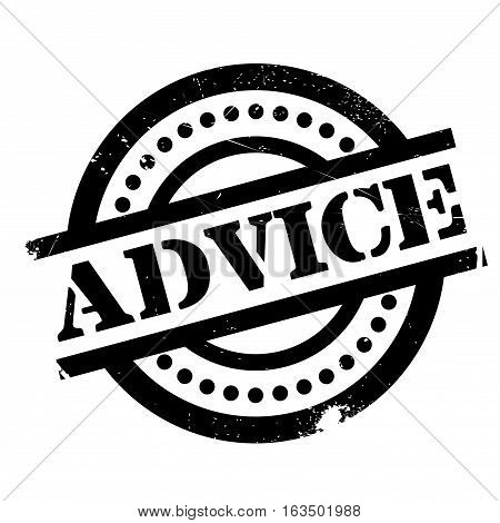 Advice rubber stamp. Grunge design with dust scratches. Effects can be easily removed for a clean, crisp look. Color is easily changed.