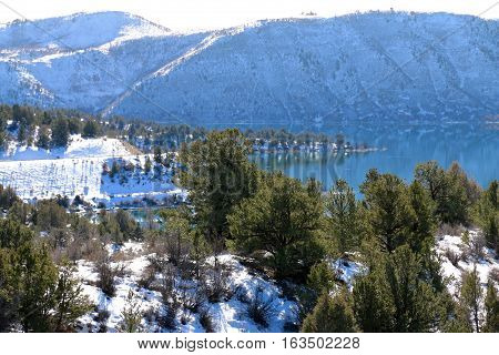 Winter over Lake Night Horse in Durango, CO