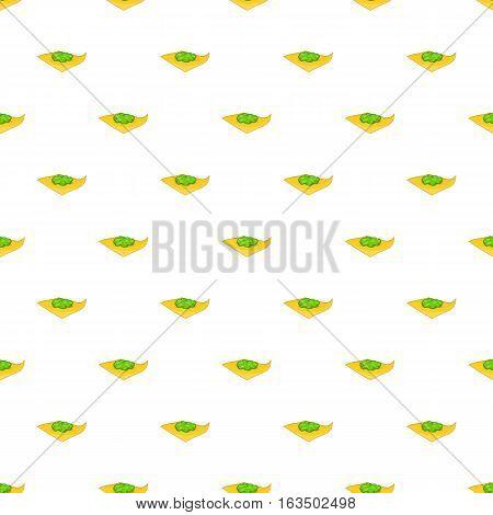 Marijuana on a paper pattern. Cartoon illustration of marijuana on a paper vector pattern for web