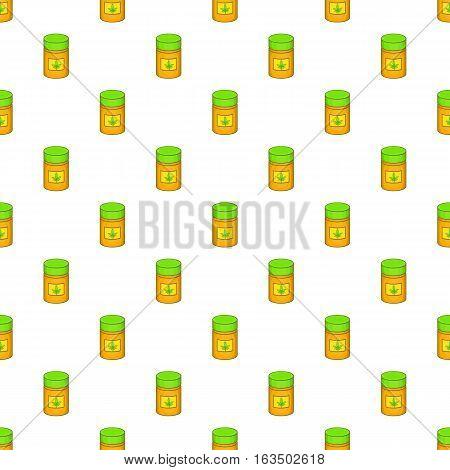 Medical marijuana bottle pattern. Cartoon illustration of medical marijuana bottle vector pattern for web