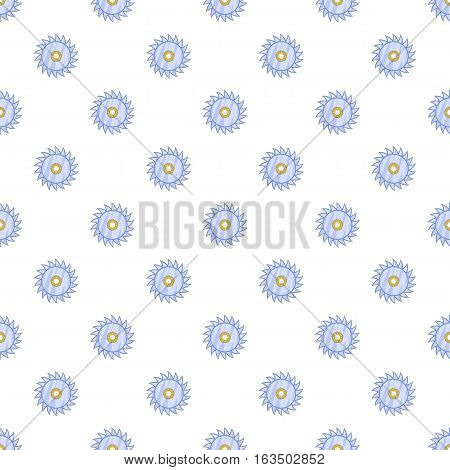 Circular saw blade pattern. Cartoon illustration of circular saw blade vector pattern for web