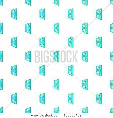 CD box pattern. Cartoon illustration of CD box vector pattern for web