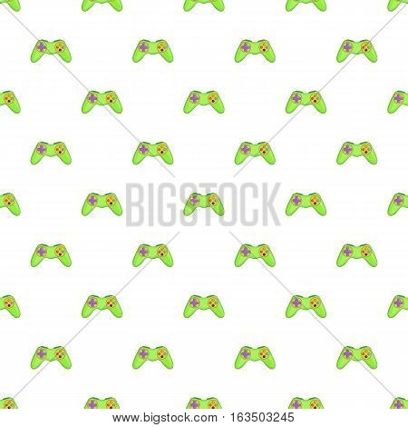 Game controller pattern. Cartoon illustration of game controller vector pattern for web