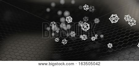 3d illustration of Abstract nano structure background