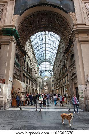 Main Entrance From Via Toledo Of Gallery Umberto I