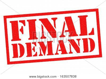 FINAL DEMAND red Rubber Stamp over a white background.