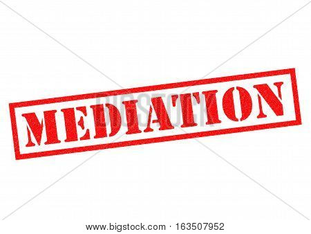 MEDIATION red Rubber Stamp over a white background.