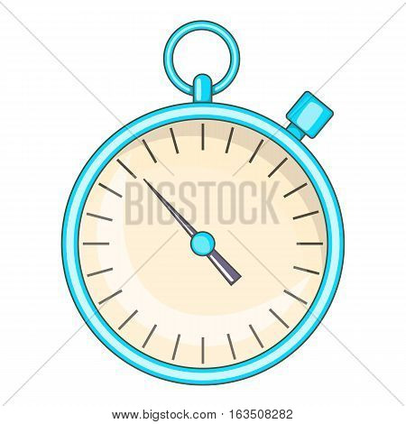 Stopwatch icon. Cartoon illustration of stopwatch vector icon for web design